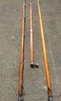 Timber masts and boom to suit sailing dinghy.