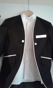 3 pieces boy Tuxedo (black with white) for 5-7 yrs old