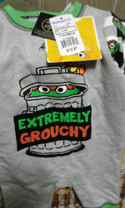 REDUCED!!--Oscar the Grouch Onesie BRAND NEW W/TAGS!!!