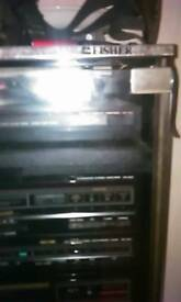 Fisher cabinet free record,amp,tuner,cd,tape separates.