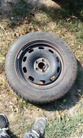 Set of 4 Winter Tires + Rims from a 99 Jetta: 195/65 R15 91H
