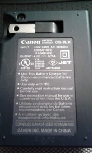 various Canon battery chargers and batteries