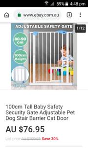 baby gate with cat door.  new