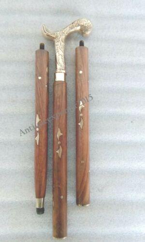36 Nautical Brass Designer Handle Wooden Walking Stick Christmas Gift Item