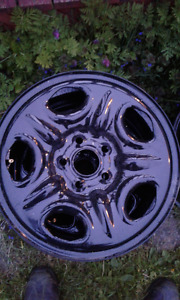 16 inch rims, good heavy steel. blasted and powder coated