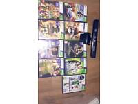 Xbox 360 Kinect plus 9 games