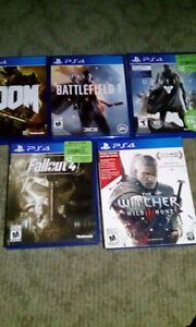 Several ps4 games for sale.
