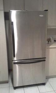 Réfrigérateur 30'', congélateur en bas, Stainless, Whirpool Gold