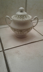 J. & G. Meakin England  Sugar Bowl With Lid