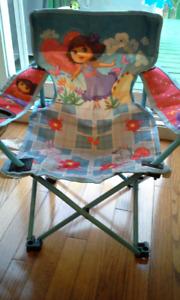Chaise de camping pour enfant environ 3-7 ans (Dora)