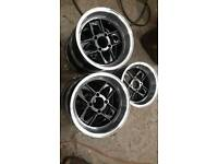 "Classic mini Brand New 13"" ×7"" Mamba alloys x5 with wheel nuts"