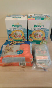 Pampers and Huggies Swim Diapers