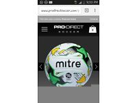 Genuine matchball .mitre hyper seem.given to me from machester city and genuine