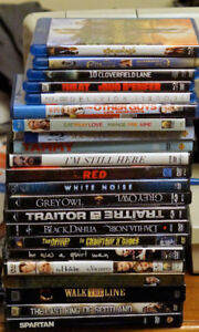 22 movies (8 are blu ray) - $15 for all of them