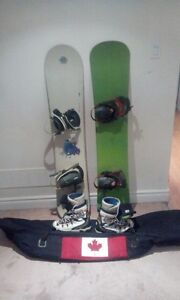 2 snowboards  complete