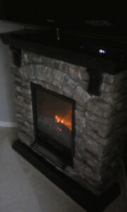 Black Stone Fire place!
