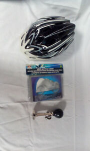 Helmet and horn