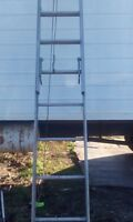 36 ft heavy duty aluminum extension ladder