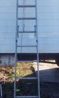 36 ft heavy duty aluminum extension ladder