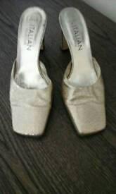 Gold next shoes