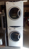 FULL SIZE FRONT LOAD STACKING WASHER AND DRYER
