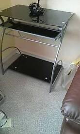 Glass(black) computer desk