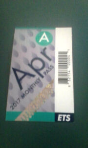 ADULT APRIL BUS PASS FOR SALE