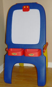 Crayola Double Sided Easel & LETS ROCK ELMO TOY