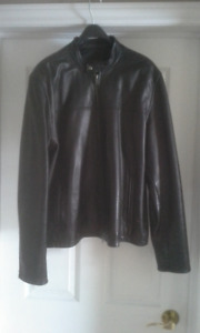 Mens Danier Leather Bomber Jacket