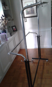 Portable Double Sided Clothing Rack
