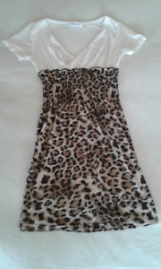 Krazy brand size small leopard print mini dress