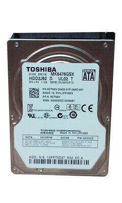"Toshiba  MK6476GSX 640GB 2.5"" SATA II Laptop Hard Drive for sale  Shipping to Nigeria"
