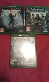 Assassins creed black flag,syndicate and rise of the tomb raider