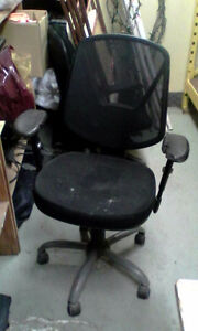 used office chairs  sold as is...