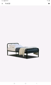 Metal single bed for collection