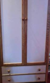 matching solid wood wardrobes and 2 sets of draws