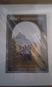2 Affiches ROCKY MOUNTAINEER CLASSIC ART