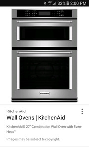 """kitchenaid30"""" ss micro/toaster oven/convection oven combo"""