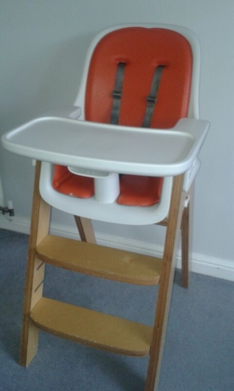 Oxo Tot Sprout Highchair Birch/orange   Good Condition