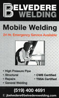 Mobile Welding, Repairs and Fabrication. (Welder)
