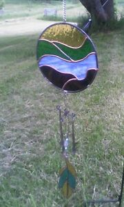 Garden/yard Stained Glass ornaments/wind chimes