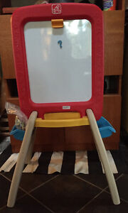 Step 2 easel for two - chalk board/white board