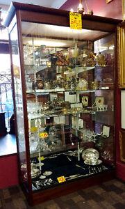 Pair of Oak Display Cabinets