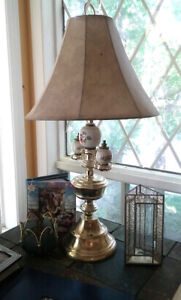 Matching table lamps and floor lamp