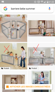 Barrière pour enfants