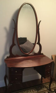antique solid wood vanity