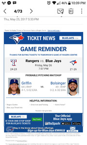 Great seats for this wknd blue jays