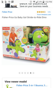 Fisher Price Walker and Ride on fun toy with sounds and music