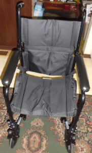 Transport Folding Wheelchair In Excellent Condition