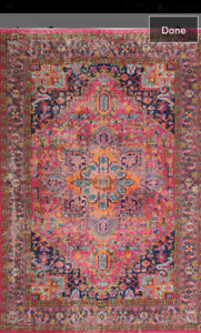 "Brand new Ashburn Fuchsia area rug. 7'7"" x 9'9"""